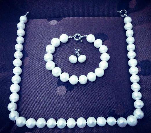 Perle naturale cu margaritar salbatic rar