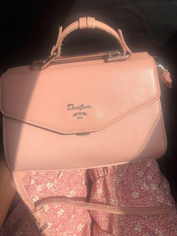 Продам красивую сумку в пудровом цвете
