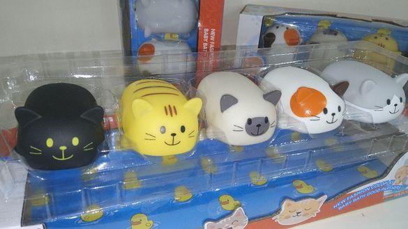 Свирещи гумени котенца за баня Komiku 5в1 Супер яки