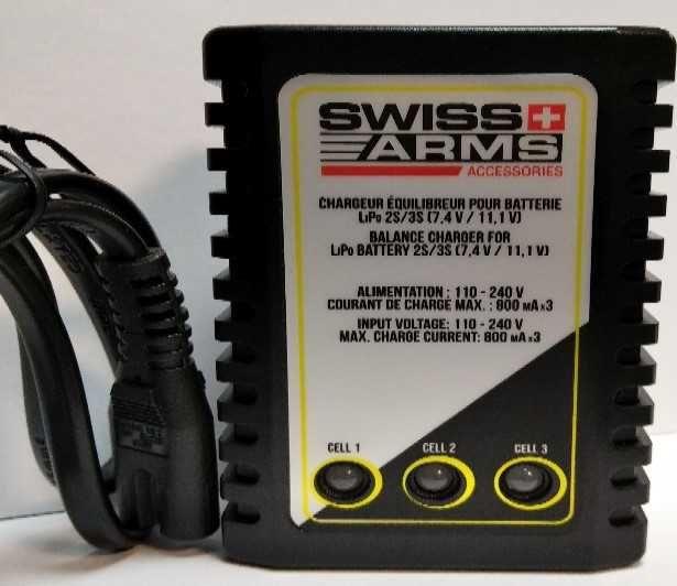 Incarcator CU BALANS Swiss Arms pentru baterie LIPO 2S si 3S