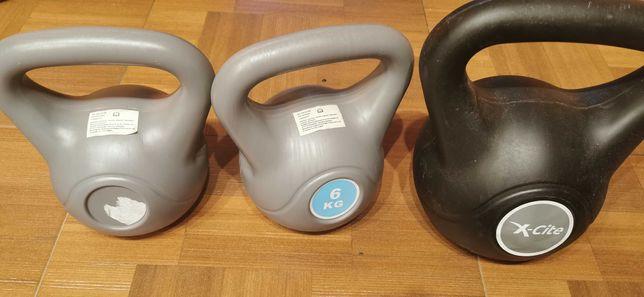 Set Gantere fitness Kettlebell 6k si 8 kg