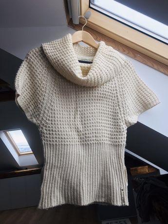 Bluza Only S/M tricotata împletită mâneca scurta și guler