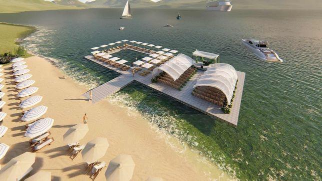 Dock modular pentru evenimente pe apa