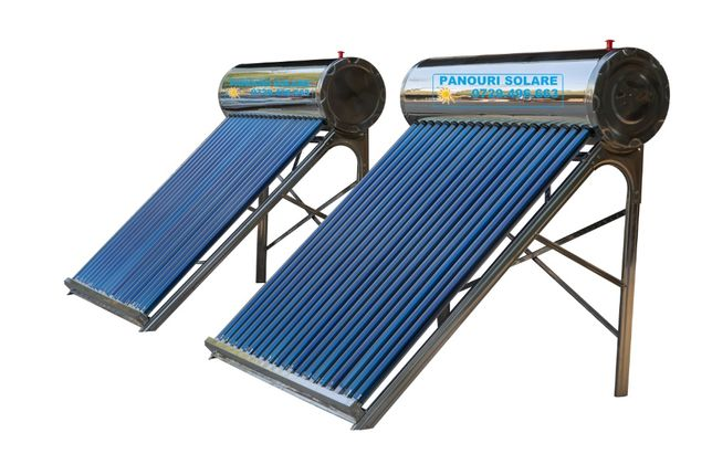 PANOU SOLAR apa calda nepresurizat 130 litri-total inox+controler