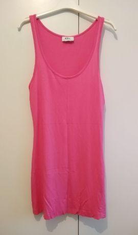 Top lung roz hot pink/rochie mini plaja BPC Italia