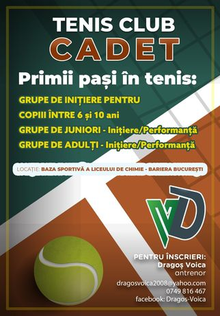 Cursuri de tenis incepatori, avansati copii/adulti