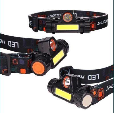 Lanterna de cap LED cu acumulator .. dublu .