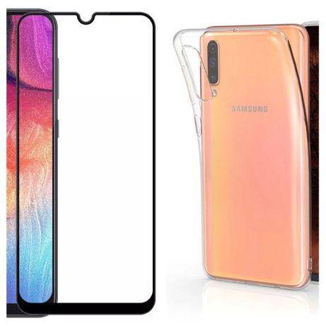 Samsung A10S A20S A30S A50S Husa Silicon si Folie Sticla Curbata 11D