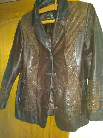 Женская кожанная курточка - пиджак