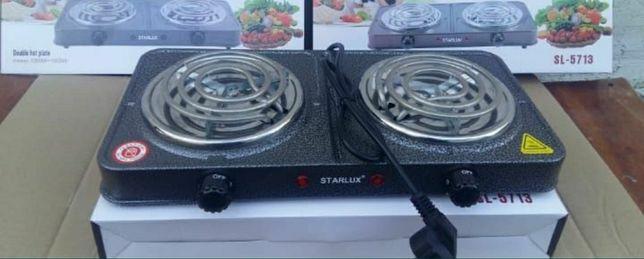 Электрические плитки STARLUX 2-х конфорочные новые в упаковке