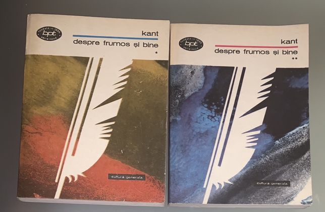 Despre frumos si bine, 2 volume, Kant, ed. Minerva