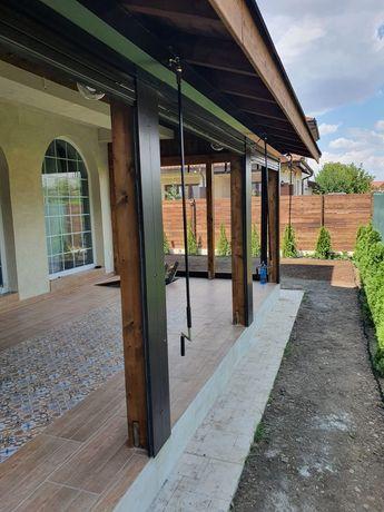 Inchideri terase cu folie/pereți transparenti