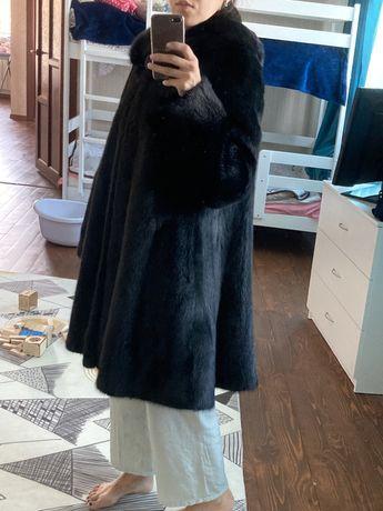 Норковая черная шуба 42-44 размер