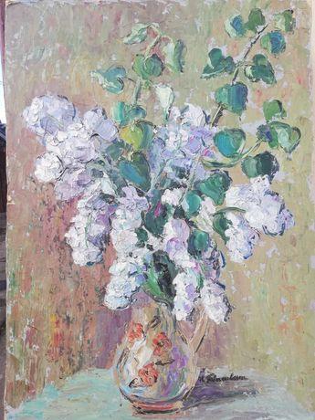 """"""" LILIAC """", tablou superb, 50/70 cm, Maria Frânculescu, u/c"""