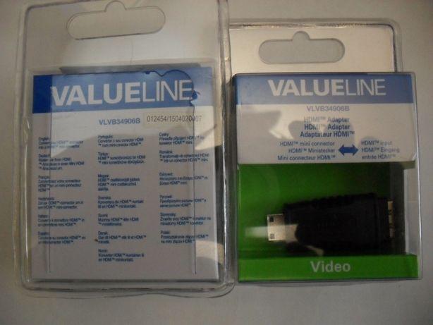 VALUELINE, Germania, adaptoare liniare miniHDMI tata – HDMI mama si HD