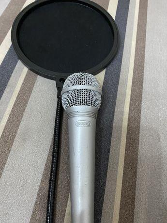 Микрофон Shure C607 + поп фильтер + хлр 1 шт