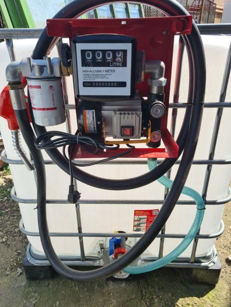 Bazin motorina 12v ibc 1000l cu sistem de gestiune si filtru mare