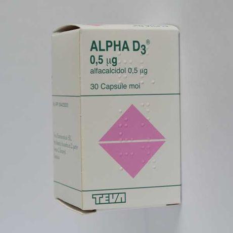 Alpha D3 0,50 µg, capsule moi – pentru oase puternice