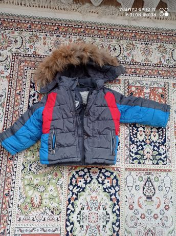 Зимняя куртка комбинезон с капюшоном