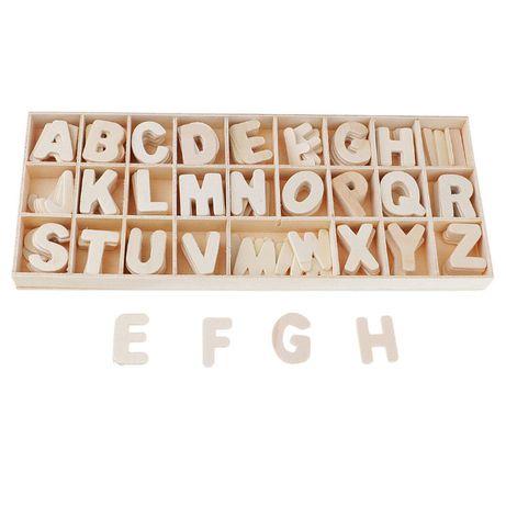 Cutie mare cu 108 litere mari cifre lemn Alfabet mobil Montessori
