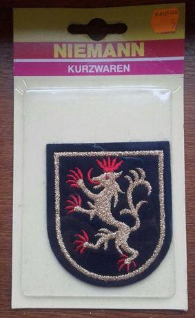 Insemn militar heraldic patch logo leu brodat / schimb soldatei Kinder