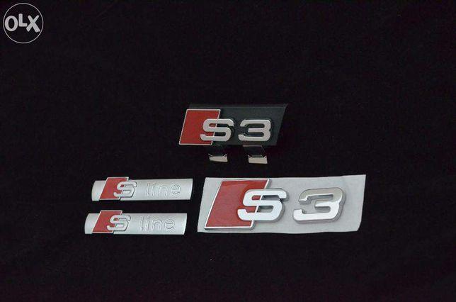 Set Embleme Audi S3