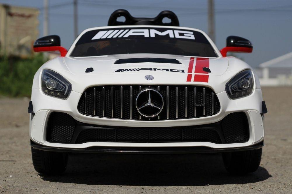 Masinuta electrica pentru copii Mercedes GT-R 2x25W 12V Model DTM #Alb Covasna - imagine 1