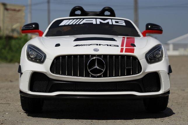Masinuta electrica pentru copii Mercedes GT-R 2x25W 12V Model DTM #Alb