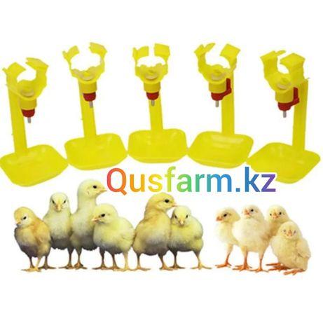 Ниппельный поилка с каплеуловителем для цыплят кур бройлер несушек