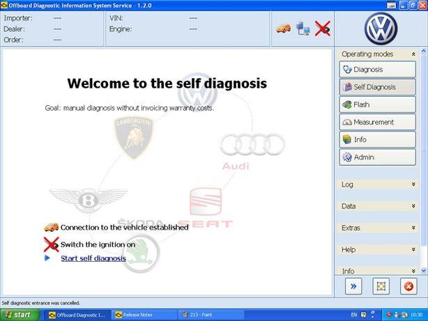 Diagnoza/Tester pentru VW/Audi/Seat/SKODA de reprezentanță