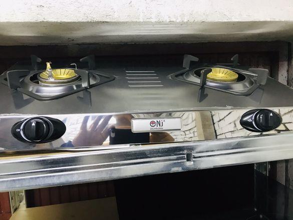 Двоен газов котлон със защита ,за бутилка 36 месеца гаранция Чисто Нов