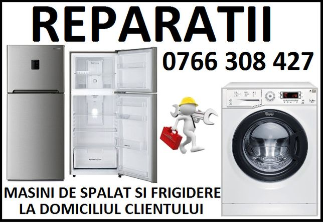 Reparatii la domiciliu frigidere si masini de spalat