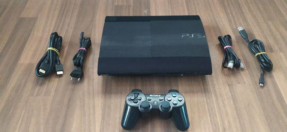 PS3 Super Slim 500GB с 60 игри /на Български / + над 12,000 ретро игри