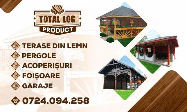 Terase din lemn, foisoare, acoperisuri pergole, garaje