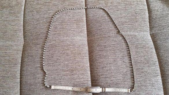 Ефектен колан с камъни цирконии, 112 см
