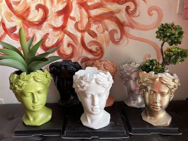 Vaza ghiveci cap de femeie zeita Venus statuie decor