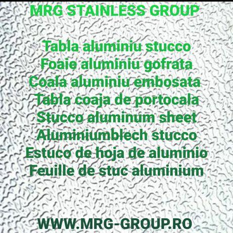 Tabla aluminiu Stucco 0.5x1000x2000mm embosata gofrata coala foaie