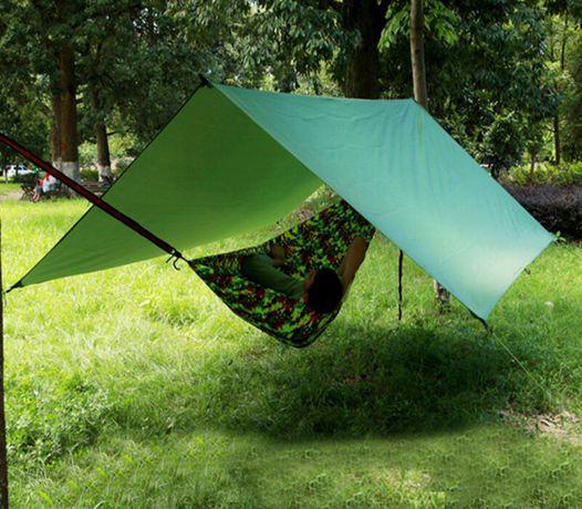 Prelata verde cort impermeabila pentru pescuit, ploaie, soare. Noua!