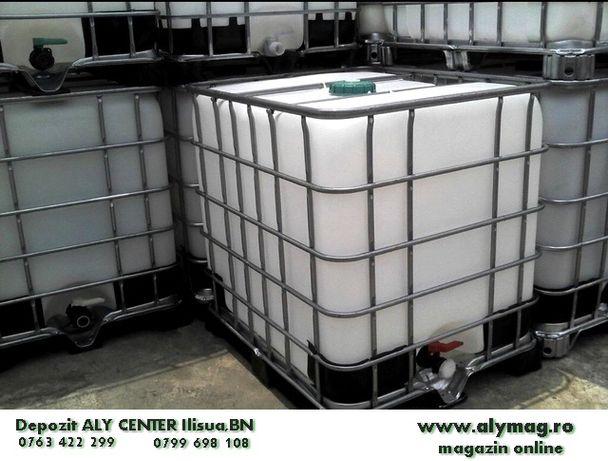 Rezervor IBC 1000L bazin cub furtun pompa gradina