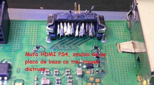 Playstation 4 reparatie mufa HDMI si Video Output Decodor Video chip !