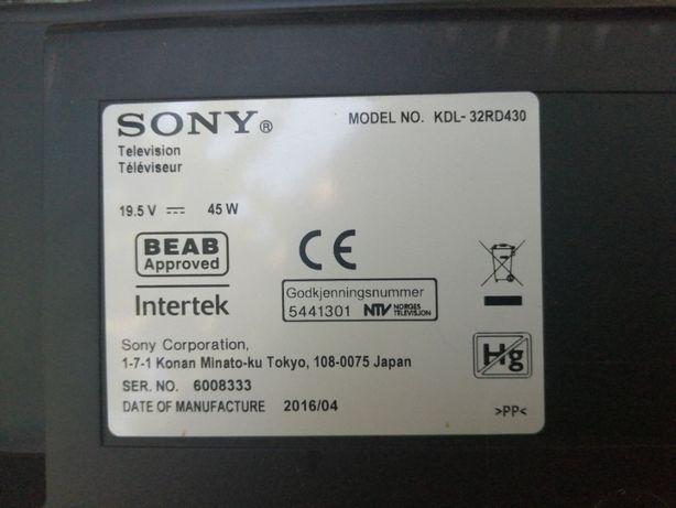 Sony model: KDL32RD430