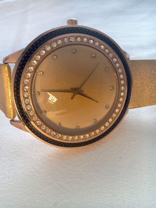 Ceas placat aur Bijou Brigitte - cristale swarovski, 45mm,cc Bucuresti - imagine 1