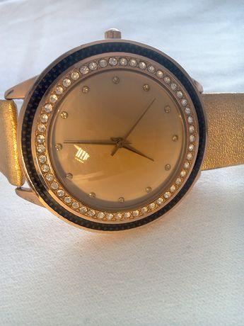 Ceas placat aur Bijou Brigitte - cristale swarovski, 45mm,cc