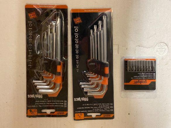Шестограми средни, к-т 9бр, 1.5-10mm CR-V/Накрайници за отвертка