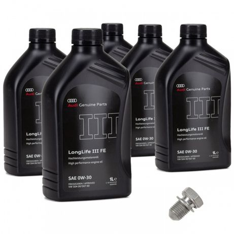 Pachet 5 Buc Ulei motor Audi Longlife III 0W-30 504.00 / 507.00 1L