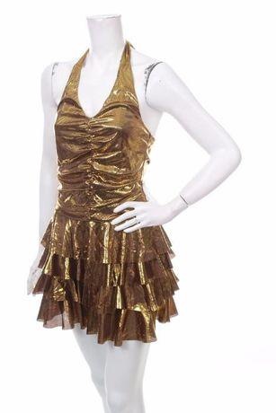 Чисто нова рокля ЗЛАТО, Прекрасна, Стилна