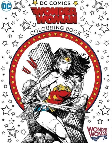 Super carte de colorat Wonder Woman, benzi desenate, excelenta
