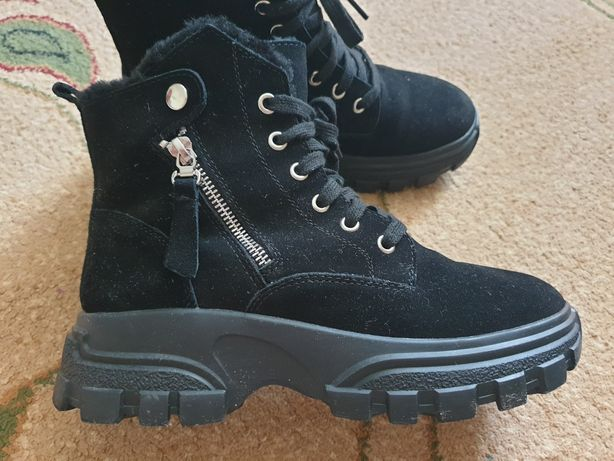Ботинки зимние, натуралки