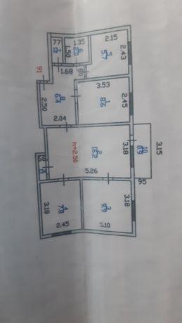 4х комнатная квартира продаётся либо обмен