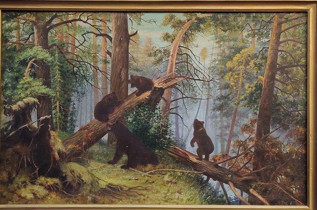 Картина Утро в сосновом лесу